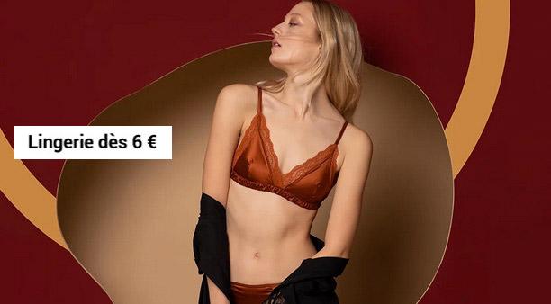 Vente privee lingerie dès 6€