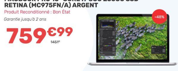 Macbook Pro 15″ à 759,99€