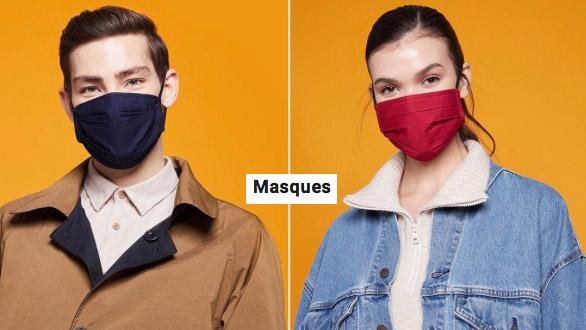 Vente privee masque en tissus