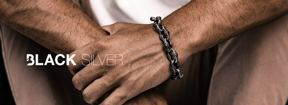 Vente privee black silver