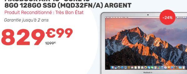 Macbook Air à 829,99€