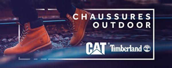 Cat et Timberland: chaussures Outdoor